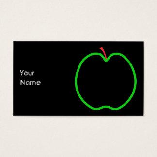Het zwarte, Rode en Groene Ontwerp van Apple Visitekaartjes