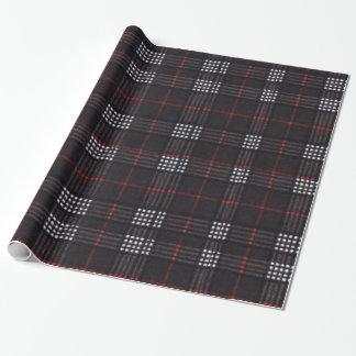 Het zwarte/Rode/Witte Patroon van de Plaid Inpakpapier