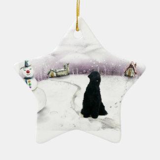 Het zwarte Russische ornament van Kerstmis van