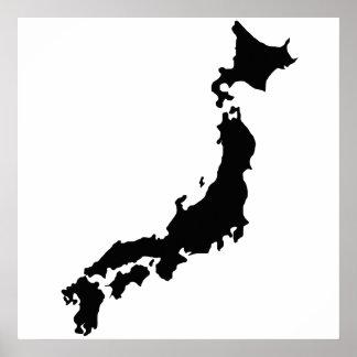 Het Zwarte Silhouet Japan van het Overzicht van de