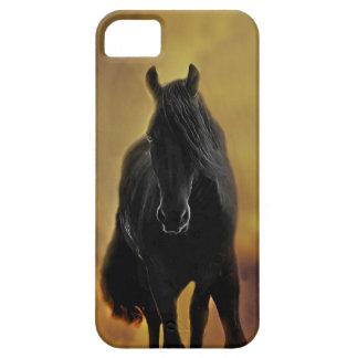 Het zwarte Silhouet van het Paard Barely There iPhone 5 Hoesje