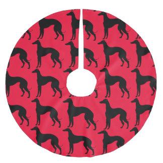 Het Zwarte Silhouet van het Patroon van de Hond Kerstboom Rok