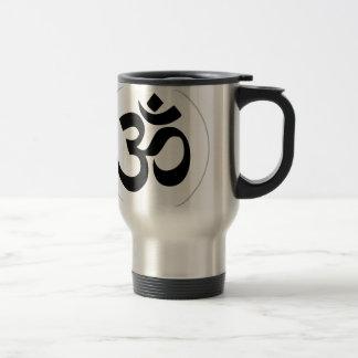 Het Zwarte Symbool van Aum (met Zilveren Ring) Reisbeker