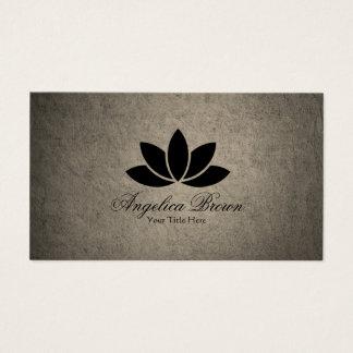 Het zwarte Visitekaartje van de Bloem van Lotus Visitekaartjes