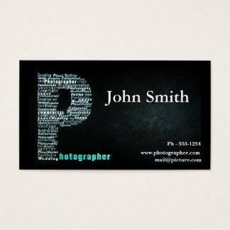 Het zwarte visitekaartje van de Fotograaf