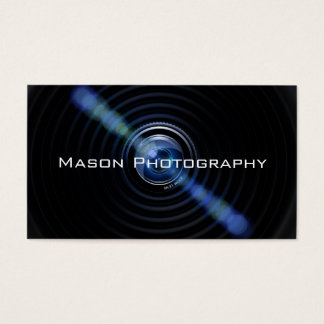 Het zwarte Visitekaartje van de Fotograaf van de Visitekaartjes