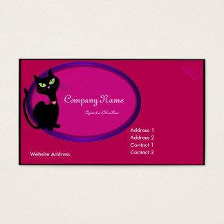 Het zwarte Visitekaartje van de Kat van het Kat Visitekaartjes