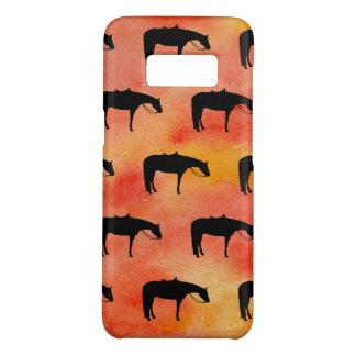Het zwarte Westerne Silhouet van het Paard op Case-Mate Samsung Galaxy S8 Hoesje