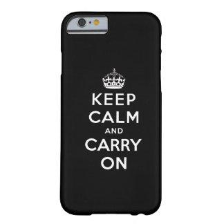 Het zwarte Wit houdt Kalm en draagt iPhone 6 hoesj Barely There iPhone 6 Hoesje
