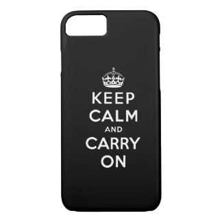 Het zwarte Wit houdt Kalm en draagt iPhone 7 iPhone 7 Hoesje