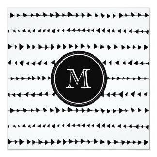 Het zwarte Witte Azteekse Monogram van Pijlen Kaart