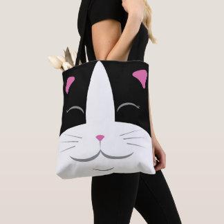 Het zwarte & Witte Canvas tas van de Kat