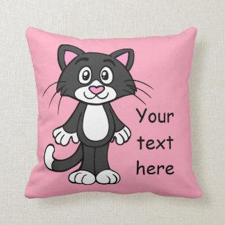 Het zwarte, Witte en Roze Hoofdkussen van de Kat Sierkussen