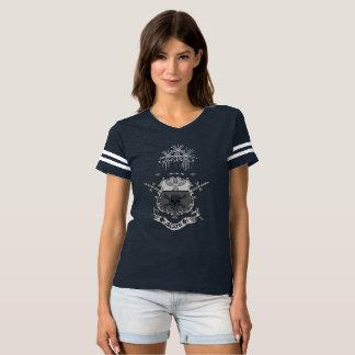 Het zwarte & Witte Football van het Bot T Shirts