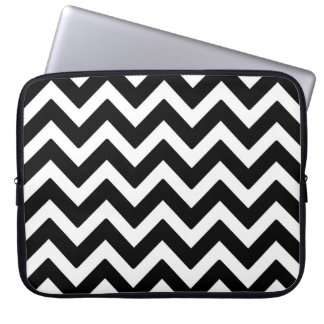 Het zwarte & Witte Geometrische Patroon van de Laptop Sleeve
