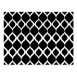 Het zwarte Witte Geometrische StammenPatroon van Briefkaart