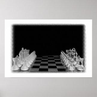 Het zwarte & Witte Griezelige Spel van de Raad van Poster