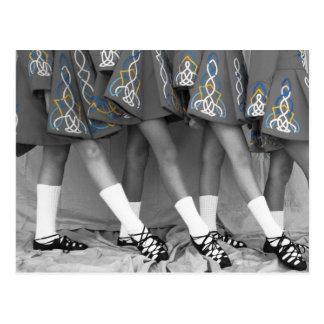 Het zwarte & Witte Ierse Briefkaart van de Dans