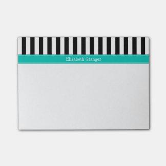 Het zwarte Witte Monogram van de Naam van het Lint Post-it® Notes