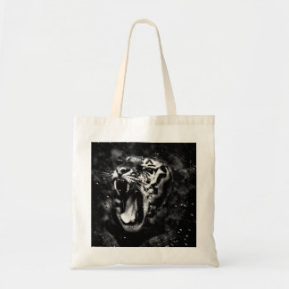 Het zwarte & Witte Mooie HoofdWild van de Tijger Draagtas