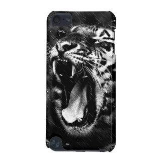 Het zwarte & Witte Mooie HoofdWild van de Tijger iPod Touch 5G Hoesje