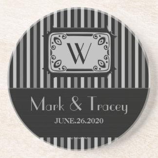 Het zwarte/Witte Onderzetter van het Huwelijk van