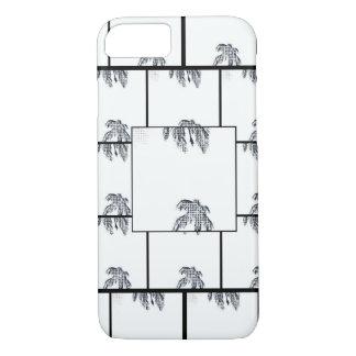 Het zwarte & Witte Pop-art van de Palm iPhone 8/7 Hoesje