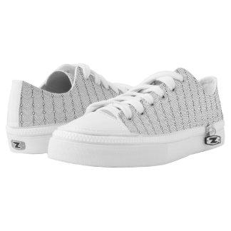 Het zwarte & Witte Retro Sneakers van de