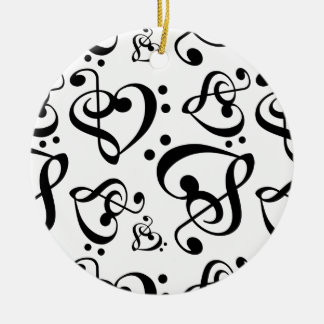 Het zwarte Witte Thema van de Muziek Rond Keramisch Ornament