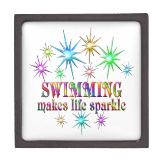 Het zwemmen Fonkelingen Premium Bewaar Doosje