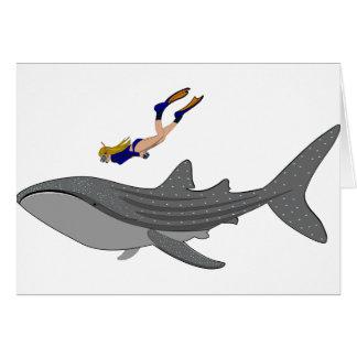 Het zwemmen met Whaleshark Wenskaart