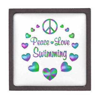 Het Zwemmen van de Liefde van de vrede Premium Cadeau Doosje