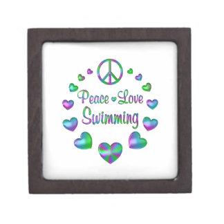 Het Zwemmen van de Liefde van de vrede Premium Opbergdoosje