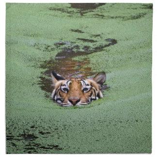 Het Zwemmen van de Tijger van Bengalen Katoenen Servet