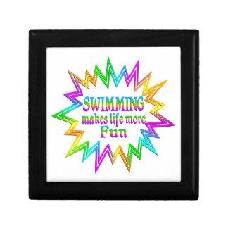 Het zwemmen van Meer Pret Decoratiedoosje