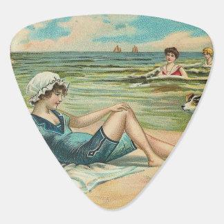 Het Zwemmende Meisje van het Victoriaans Strand Plectrum