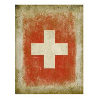 Het Zwitserse Briefkaart van de Vlag in Koele