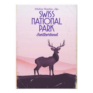 Het Zwitserse nationale poster van de park vintage