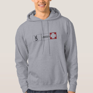 Het Zwitserse Overhemd Unicycling van het vrije Hoodie
