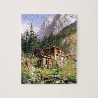 Het Zwitserse schilderen van het Blokhuis van Puzzel