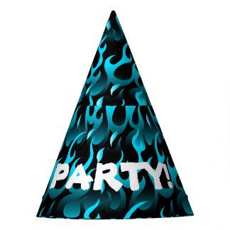 Hete blauwe vlammen feesthoedjes