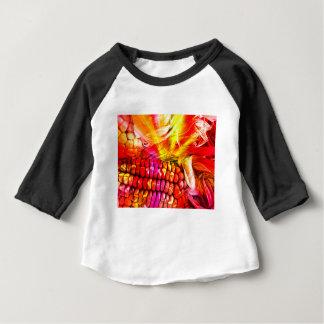 hete gestreepte maïs baby t shirts