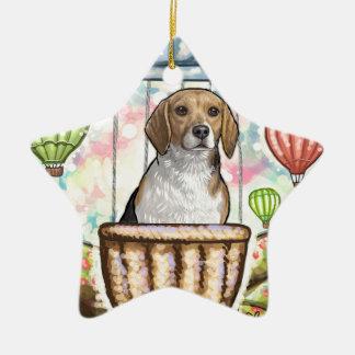 - hete haarballon keramisch ster ornament