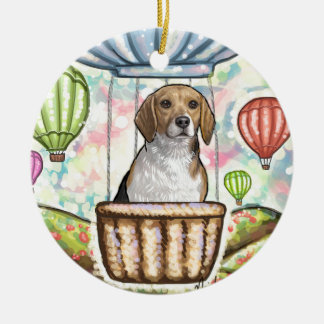 - hete haarballon rond keramisch ornament