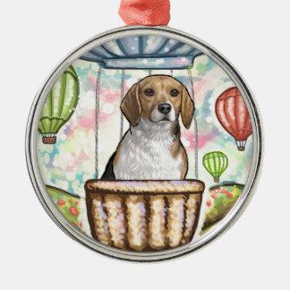 - hete haarballon zilverkleurig rond ornament