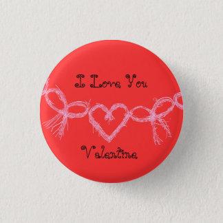 """Hete heldere rode """"I houdt van u Valentijn """" Ronde Button 3,2 Cm"""