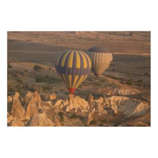Hete Lucht Ballooning in Turkije Hout Afdruk
