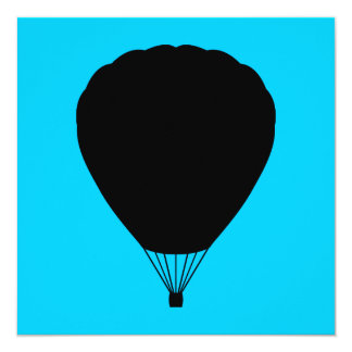 hete luchtballon 13,3x13,3 vierkante uitnodiging kaart