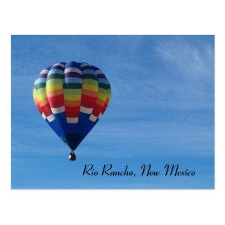 Hete luchtballon de Rancho van Rio New Mexico Wenskaarten