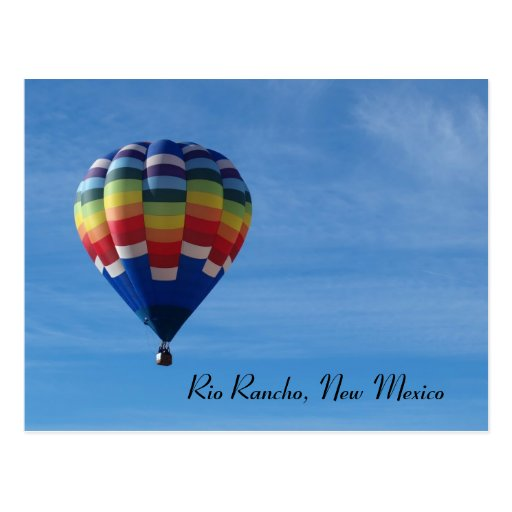 Hete luchtballon, de Rancho van Rio, New Mexico Wenskaarten